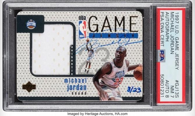 Карточка с автографом Майкла Джордана продана на аукционе за рекордные $1,44 млн
