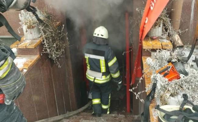 В центре Киева произошел пожар в кафе