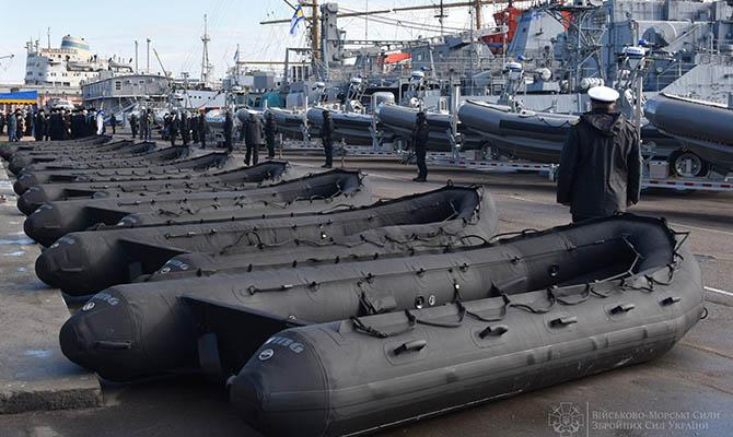 ВМС Украины получили от США надувные лодки