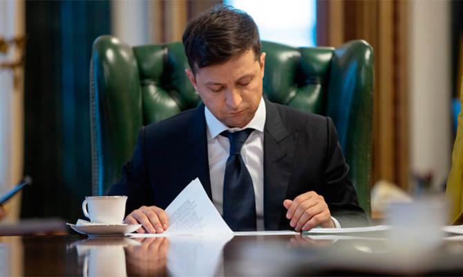 Зеленский в январе получил 22,5 тысячи гривен зарплаты