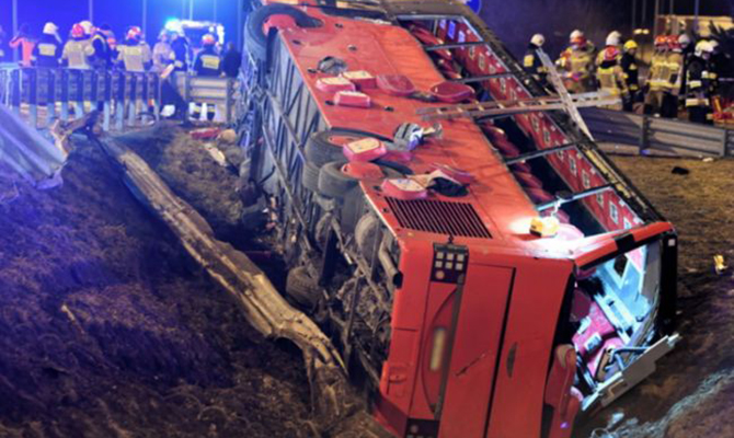 Названа предварительная причина смертельного ДТП с украинским автобусом в Польше