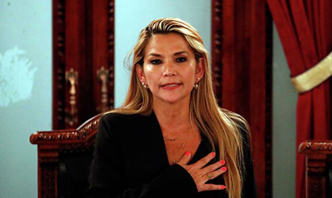 В Боливии задержали бывшего временного президента Жанин Аньес