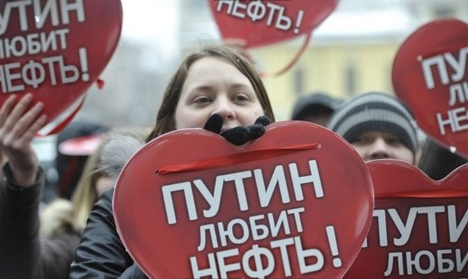Средняя цена российской нефти за год выросла более чем в два раза