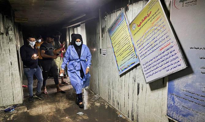 Число жертв при пожаре в больнице Багдада выросло до 82 человек