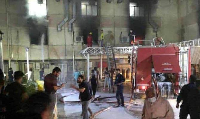 Жертвами пожара в больнице Багдада могли стать более 50 человек