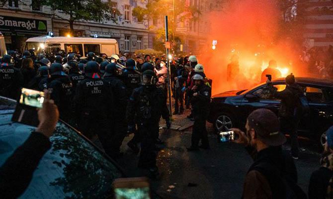 В Берлине задержали около 240 человек на демонстрациях в честь 1 мая