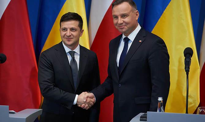 Зеленский заявил о поддержке Польшей вступления Украины в НАТО