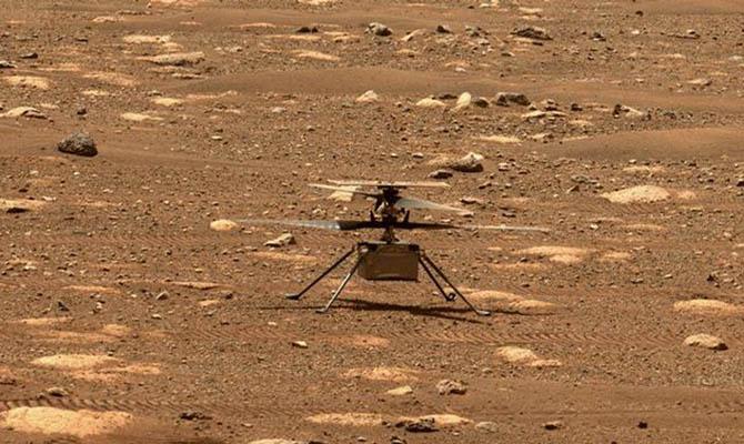 Вертолет Ingenuity сегодня совершит пятый полет на Марсе