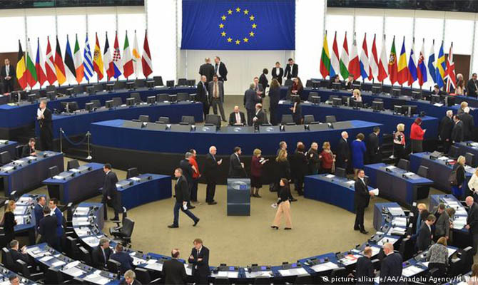 Европарламент принял резолюцию о жестких санкциях против Беларуси