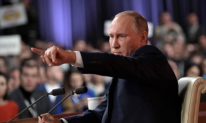 Путин обвинил Украину в милитаризации Донбасса