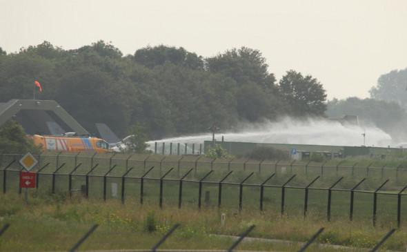 В Нидерландах бельгийский истребитель врезался в здание