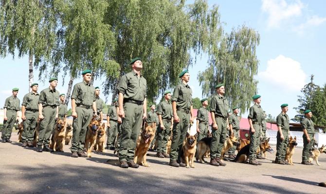Служебные собаки пограничников впервые примут участие в параде ко Дню Независимости