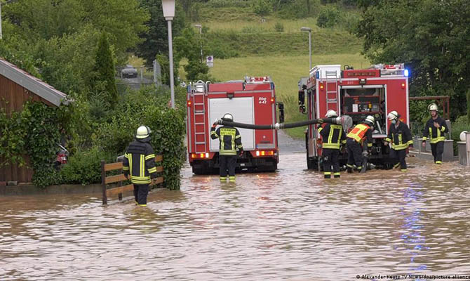 В Германии в результате наводнения вышли из строя несколько гидроэлектростанций