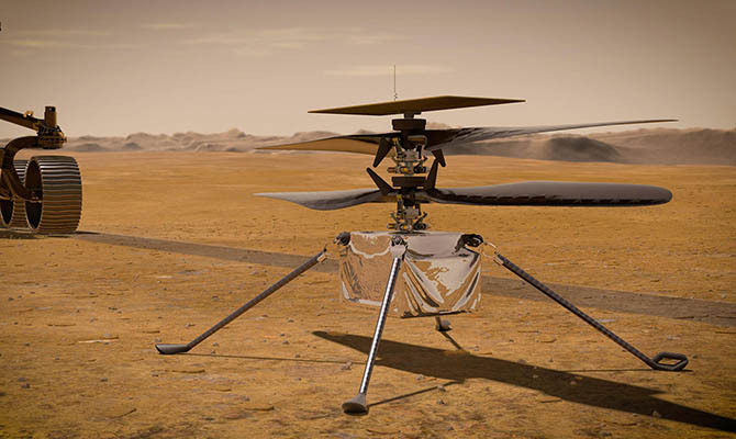 Вертолет NASA совершил рекордный полет на Марсе